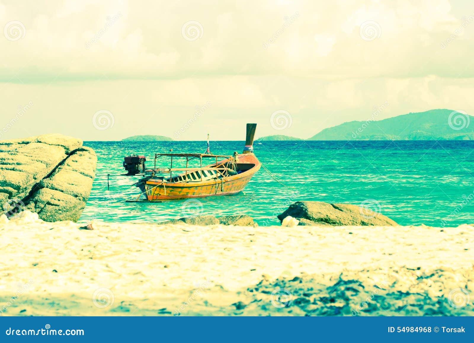 Härlig ö för havssikt