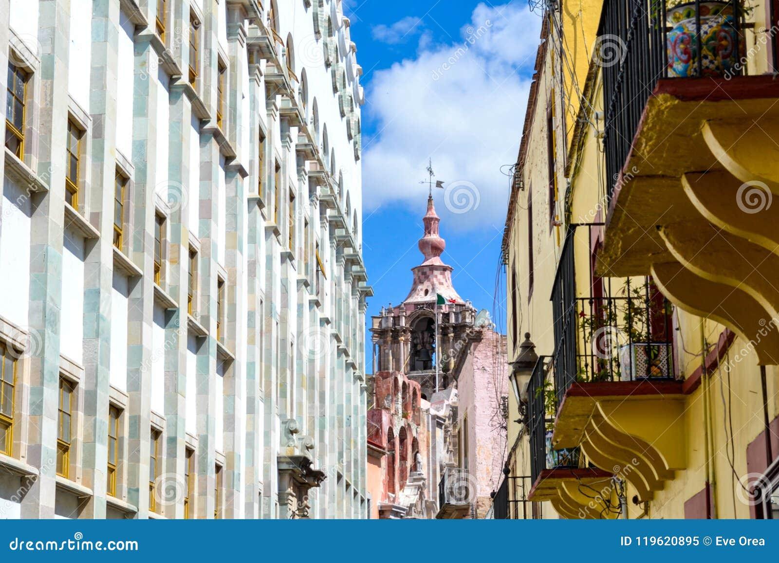 Härlig arkitekturdetalj i Guanajuato Mexico