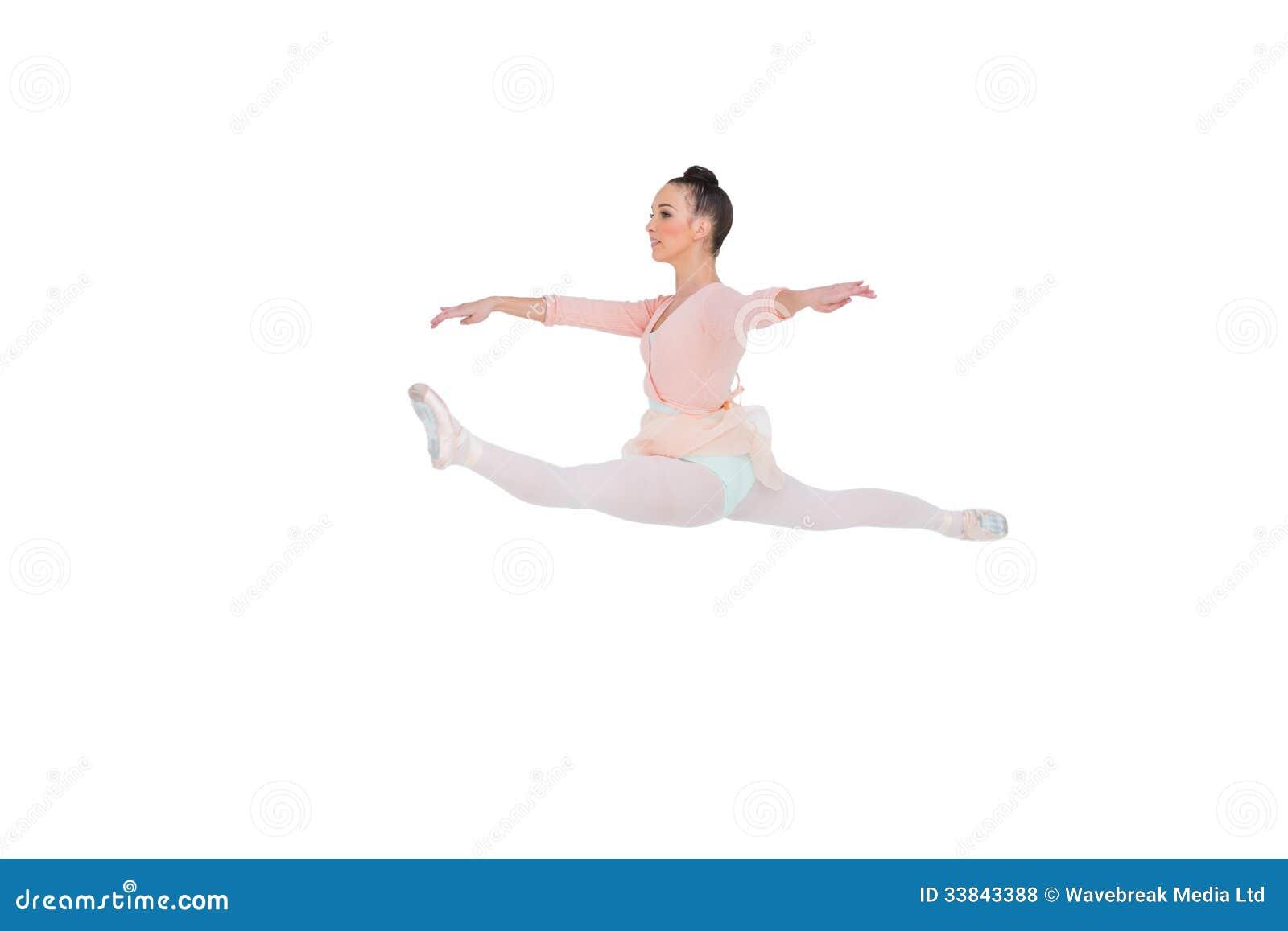Härlig ballerina som gör splittringarna