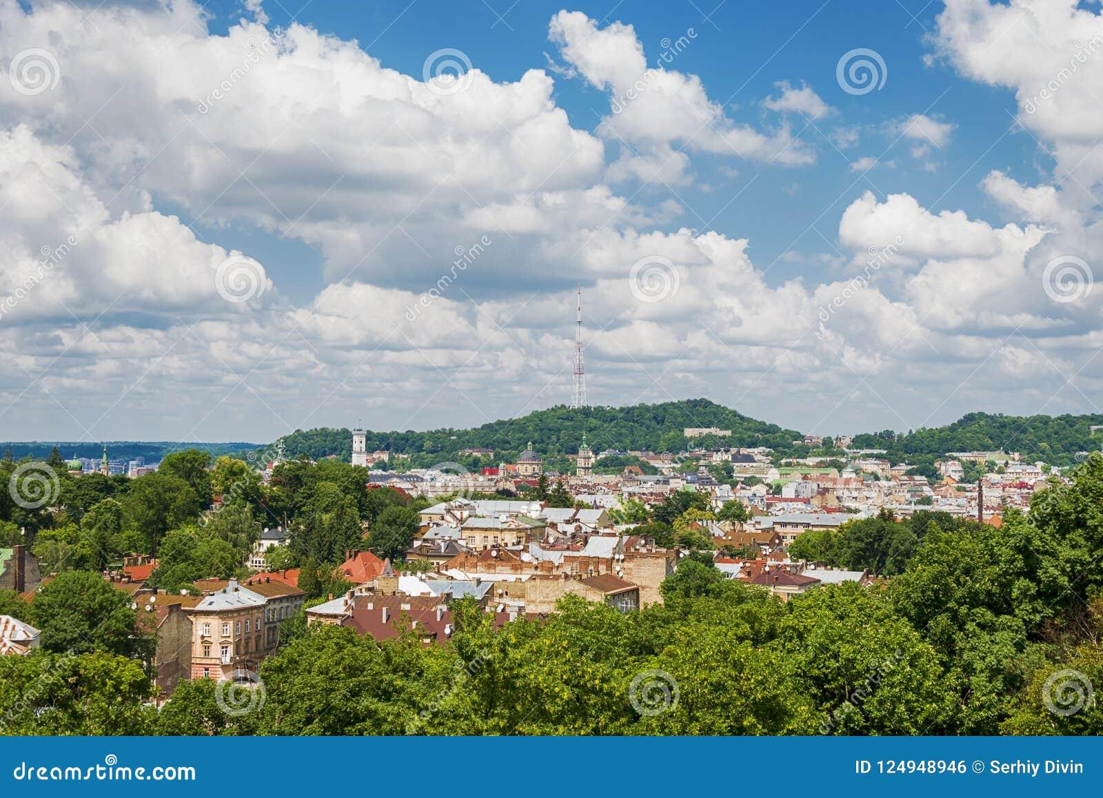 Härlig bild av Lviv