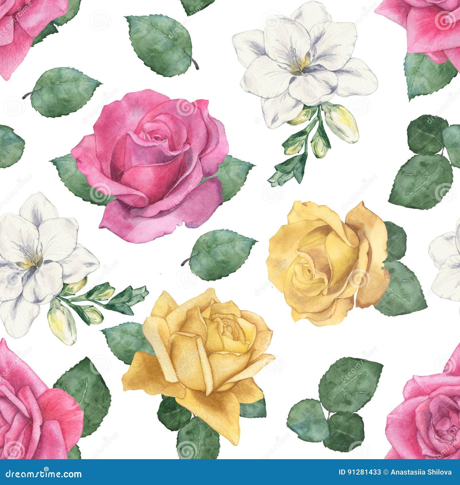 Härlig blom- modell av rosor och freesia