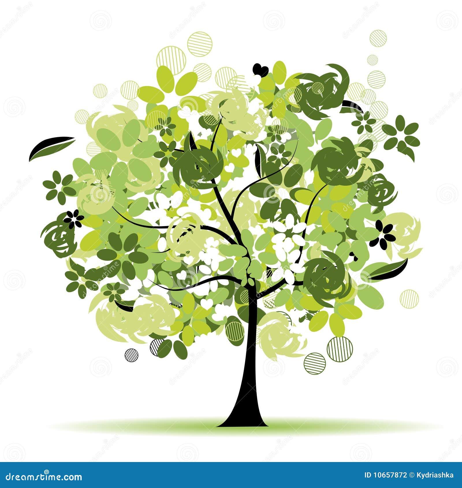 Härlig blom- tree
