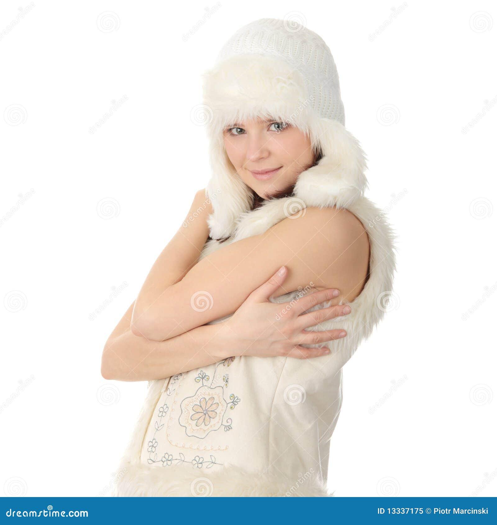 Härlig caucasian kvinna