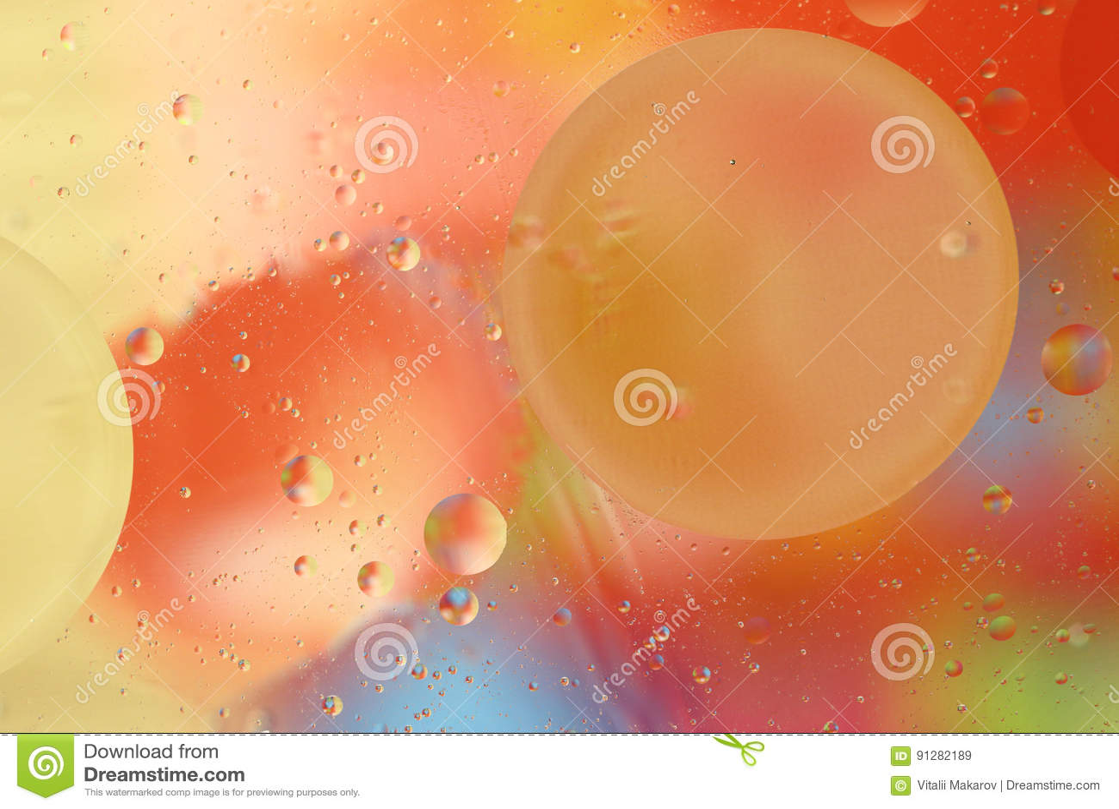 Härlig färgrik bakgrund av olja och vatten