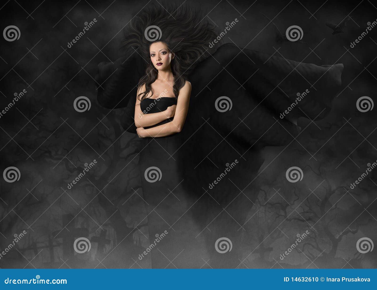 Härlig gotisk stil wings kvinnan