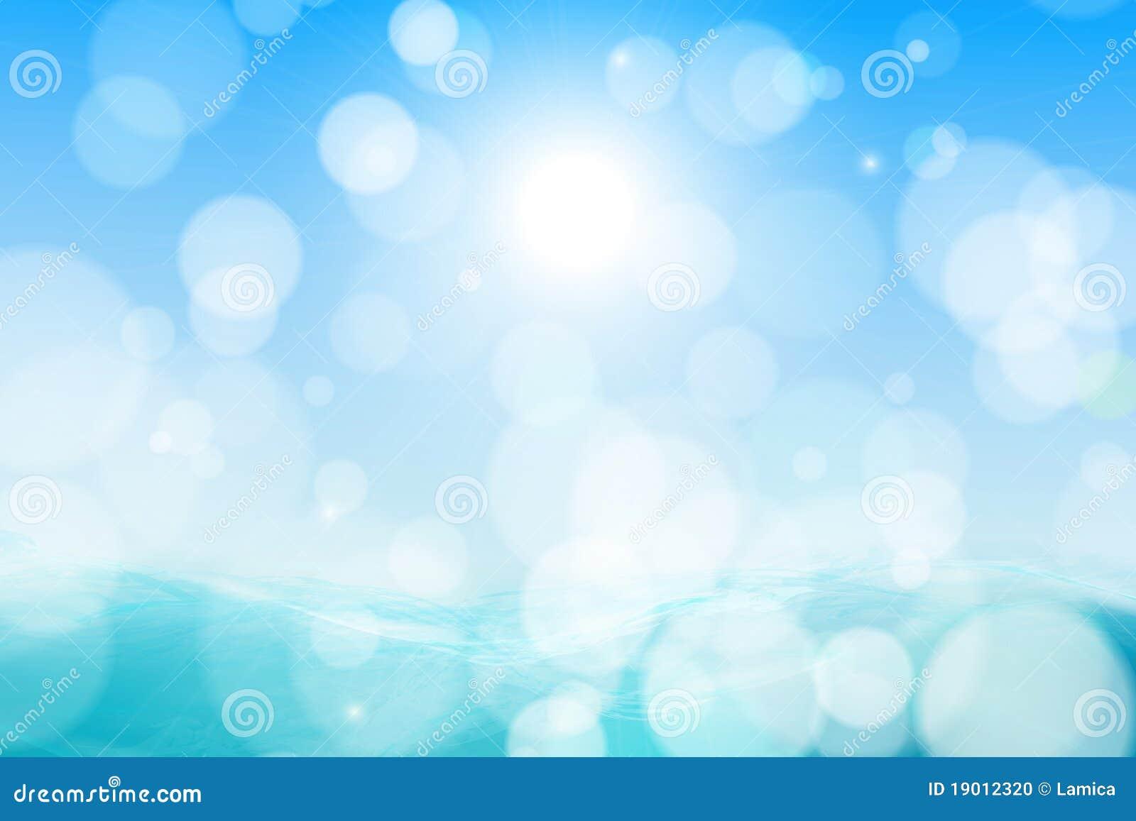 Härlig havssky för abstrakt bakgrund