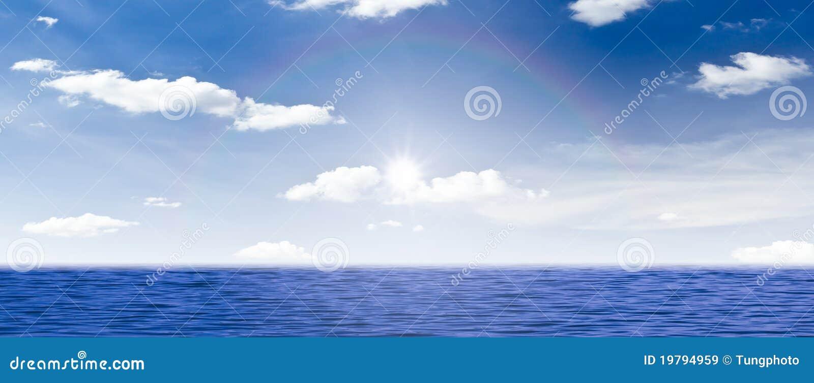 Härlig havsskysun