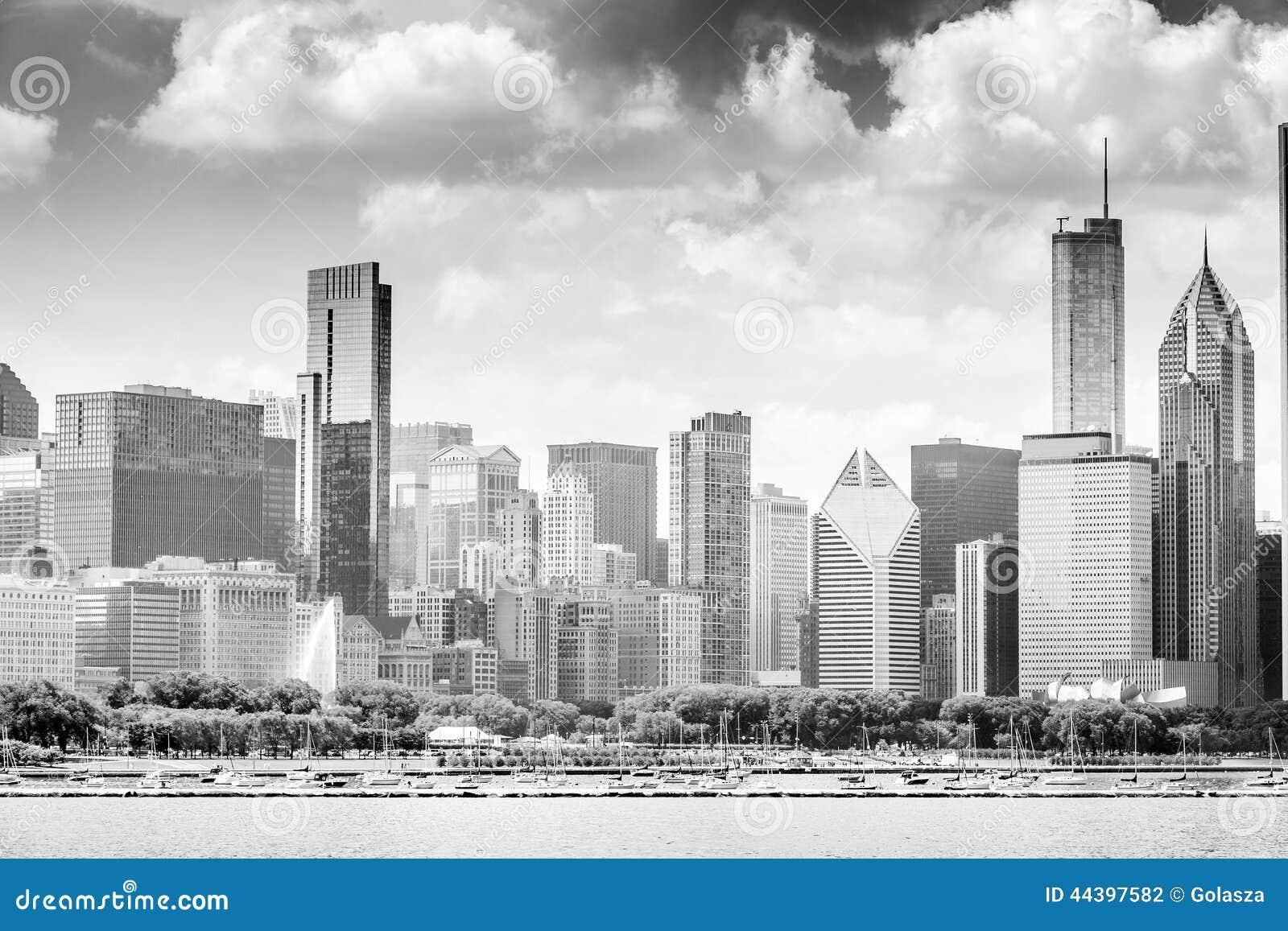 Härlig horisont av Chicago, Illinois