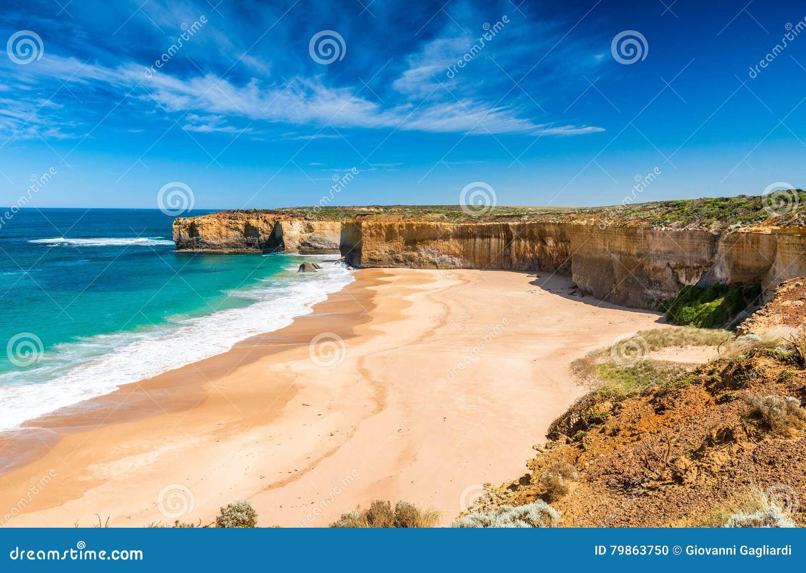 Härlig kustlinje på den stora havvägen, Victoria - Australi