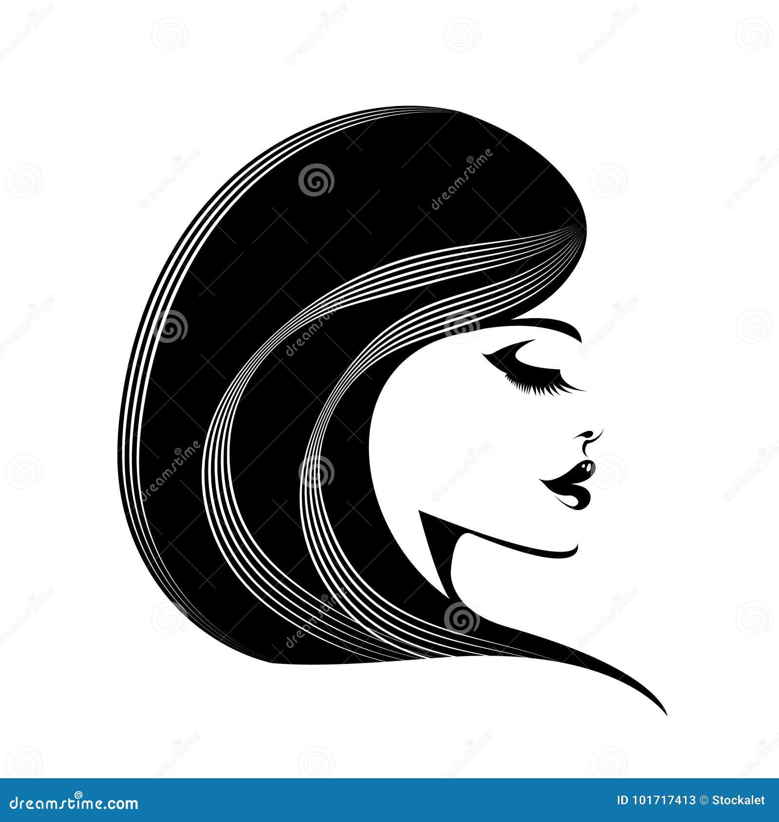 Härlig kvinna med långt krabbt hår och satt en klocka på skinande makeup