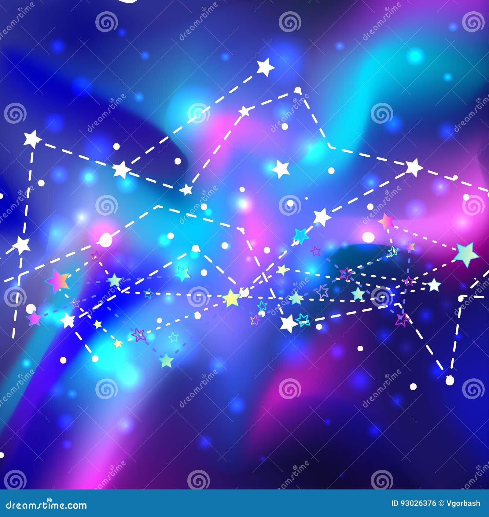 Härlig mystikergalax Kosmisk bakgrund för vektor abstrakt begrepp mot avstånd för stående för bakgrundskvinnlig ytterkant