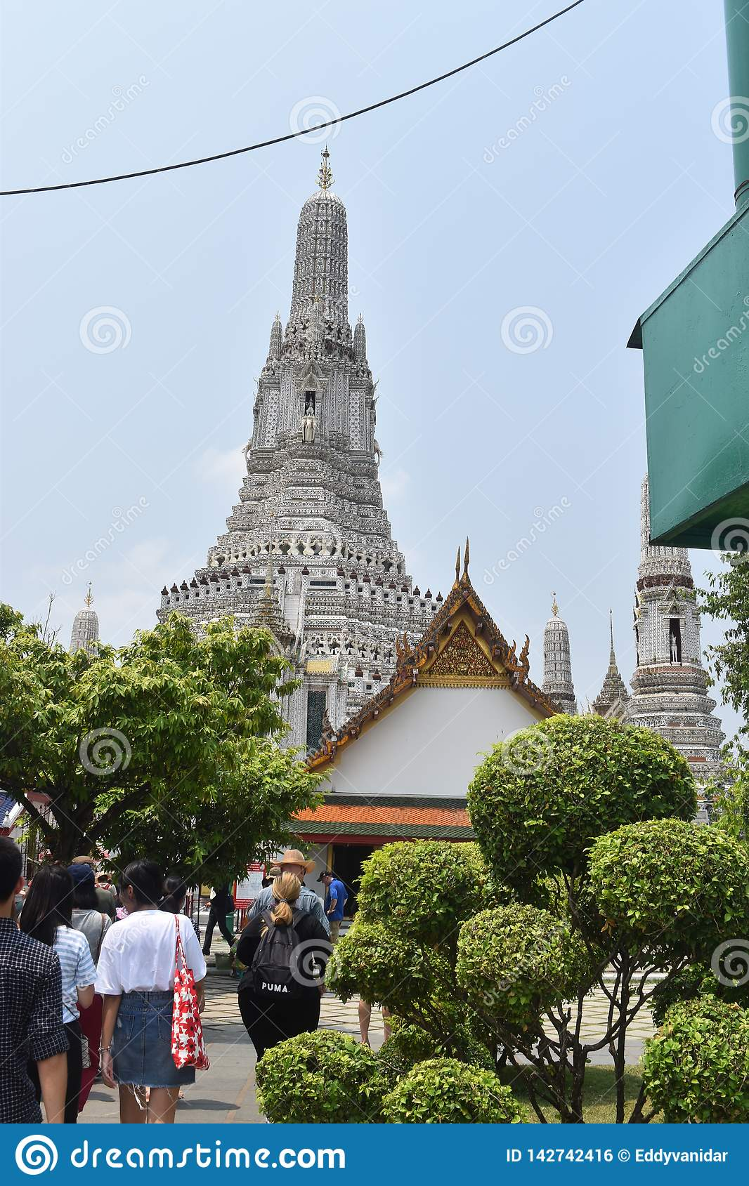 Härlig pagod på watarun en av mest berömt i Thailand