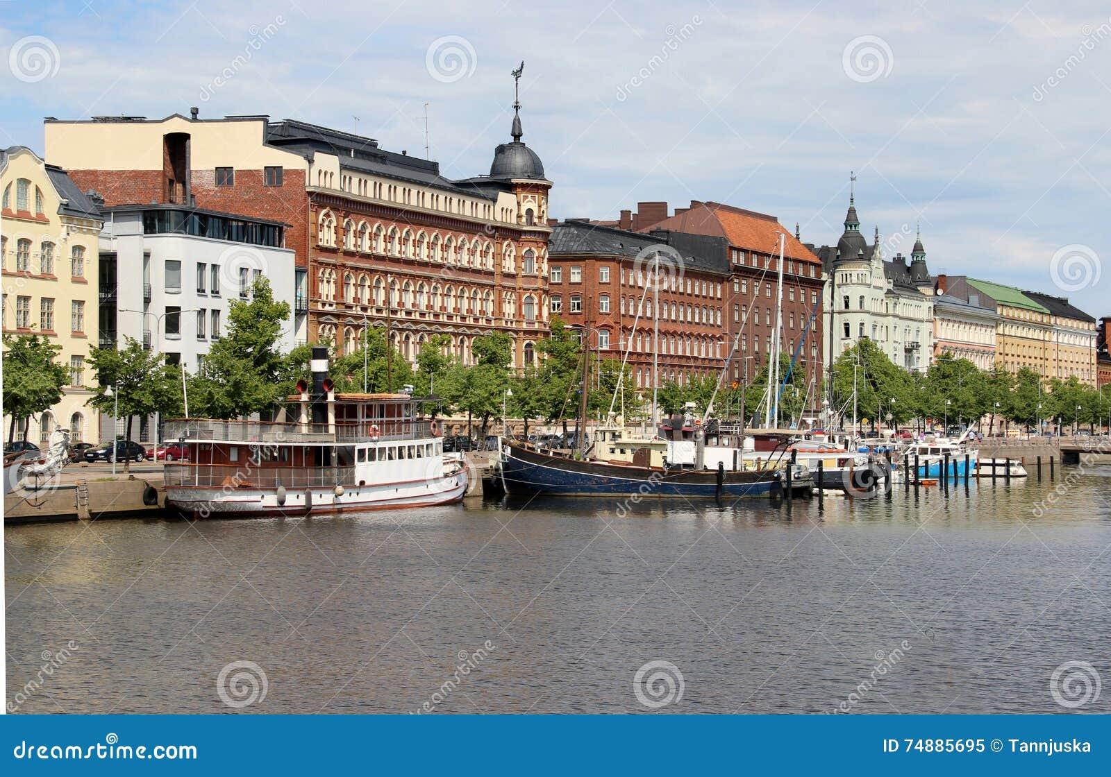 Härlig panorama av Helsingfors, Finland