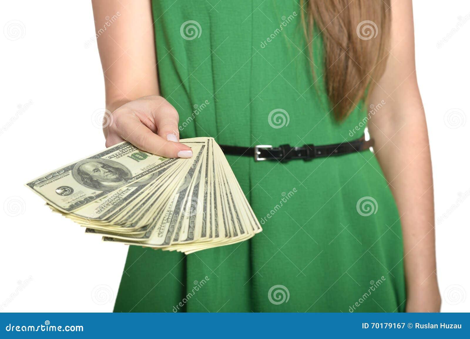 Härlig pengarkvinna