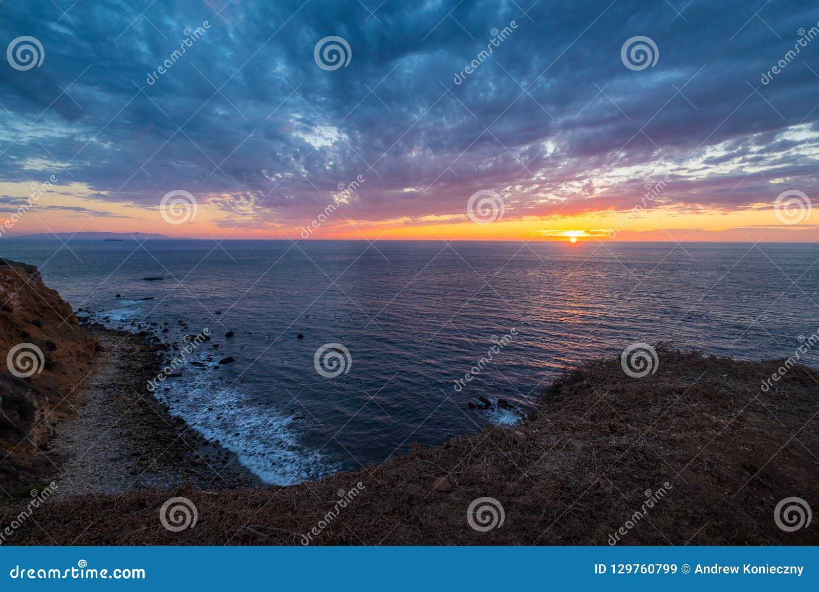 Härlig punkt Vicente Lighthouse på solnedgången