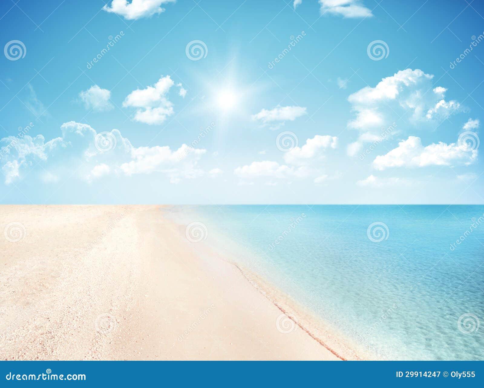 Sand och karibiskt hav