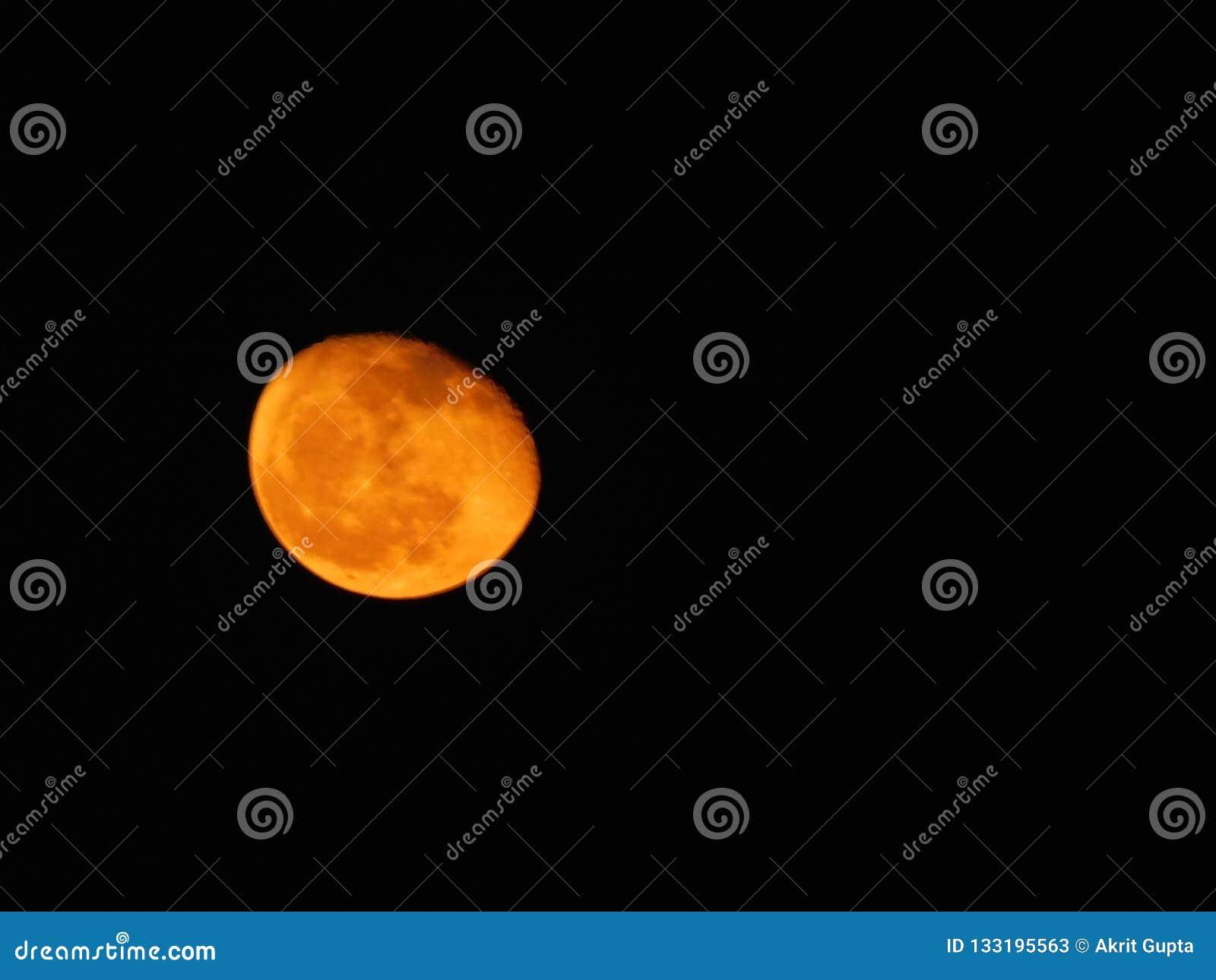 Härlig sikt av månen
