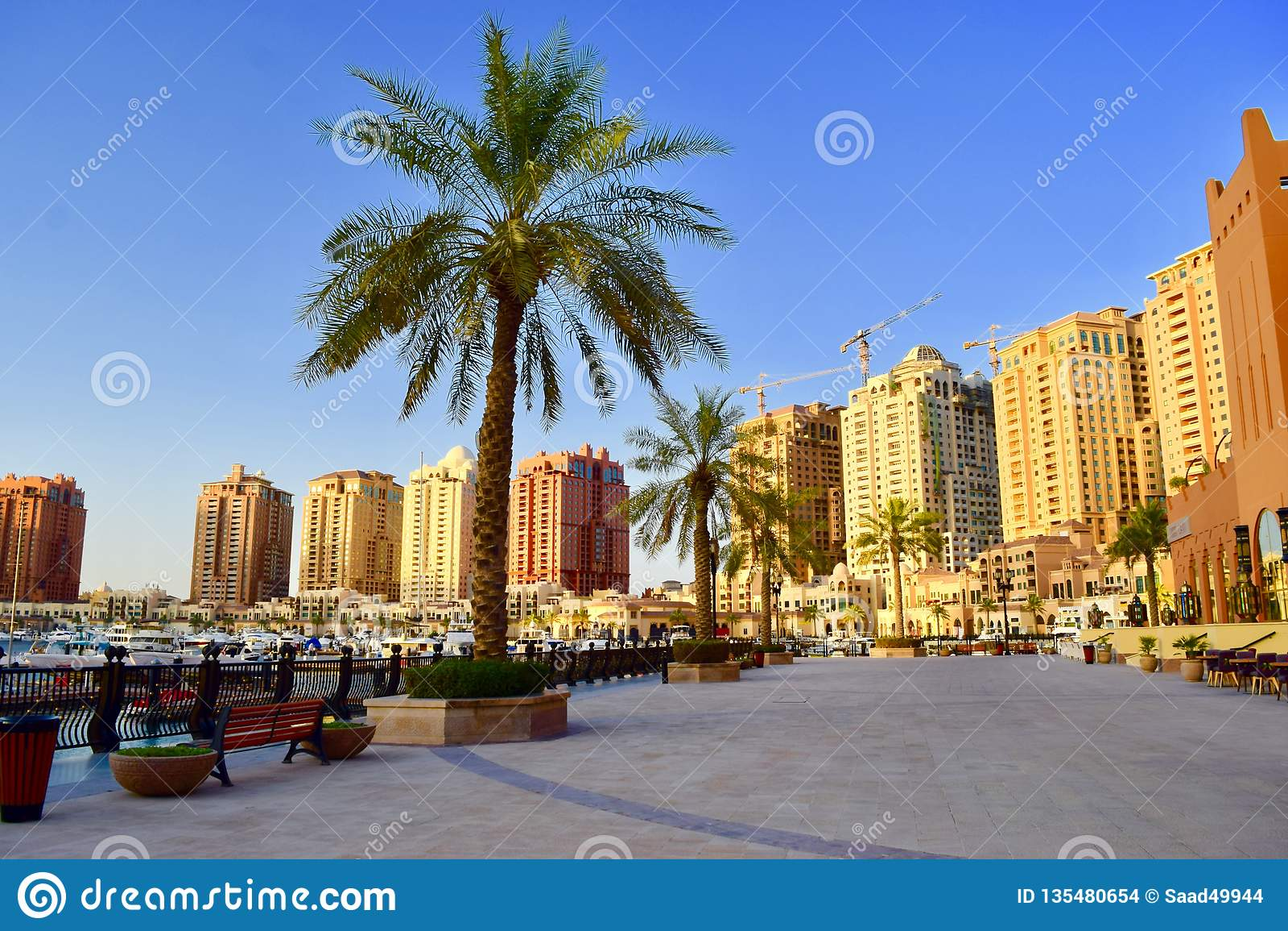 Härlig sikt pf pärlan Qatar