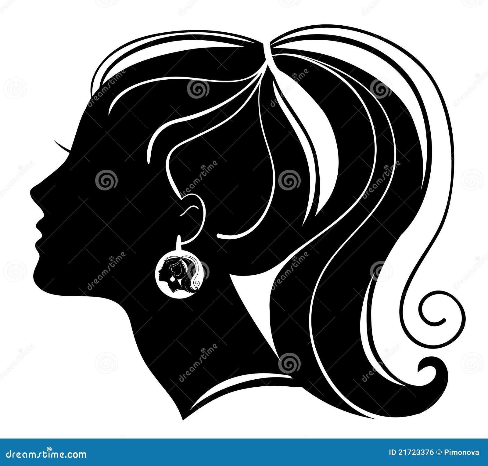 Härlig silhouettekvinna