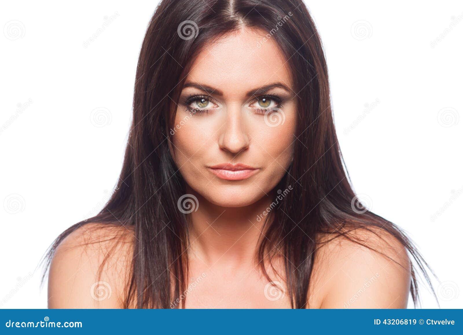 Download Härlig Skönhet Eyes För Naturståenden För Makeup Den Naturliga Kvinnan Fotografering för Bildbyråer - Bild av livsstil, älskvärt: 43206819