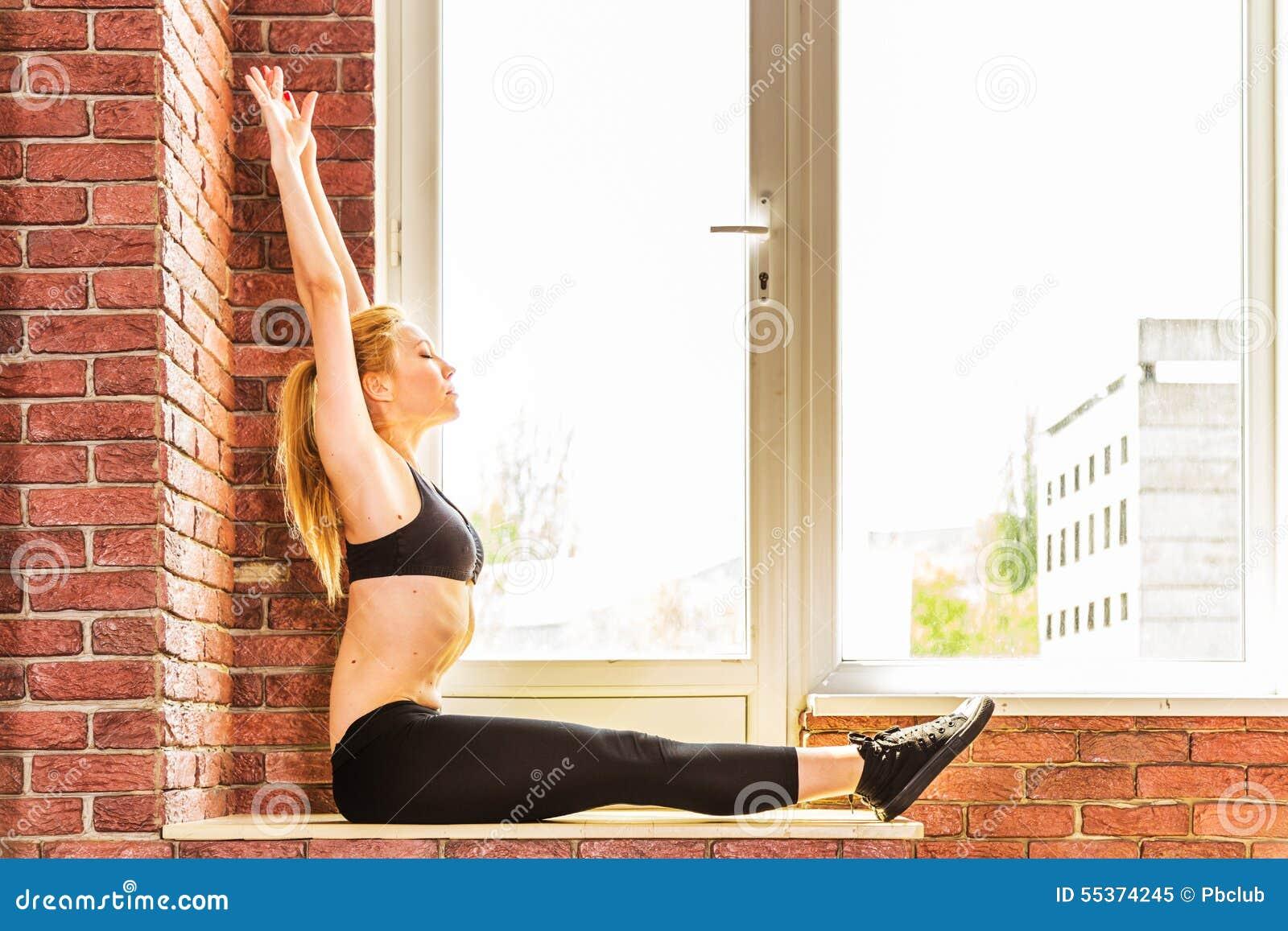 Härlig sund konditionkvinna