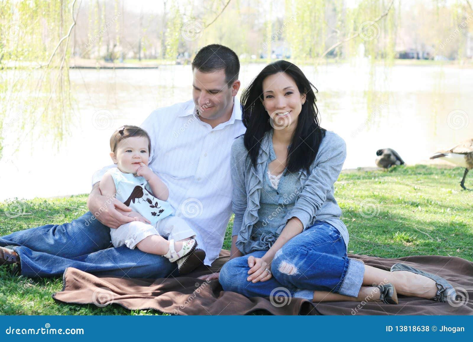 Härlig tyckande om familjpark