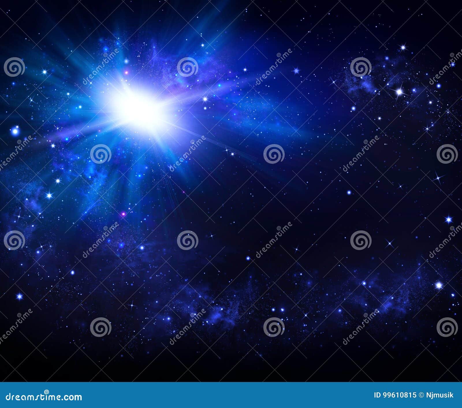 Härlig utrymmebakgrund, natthimmel med stjärnor