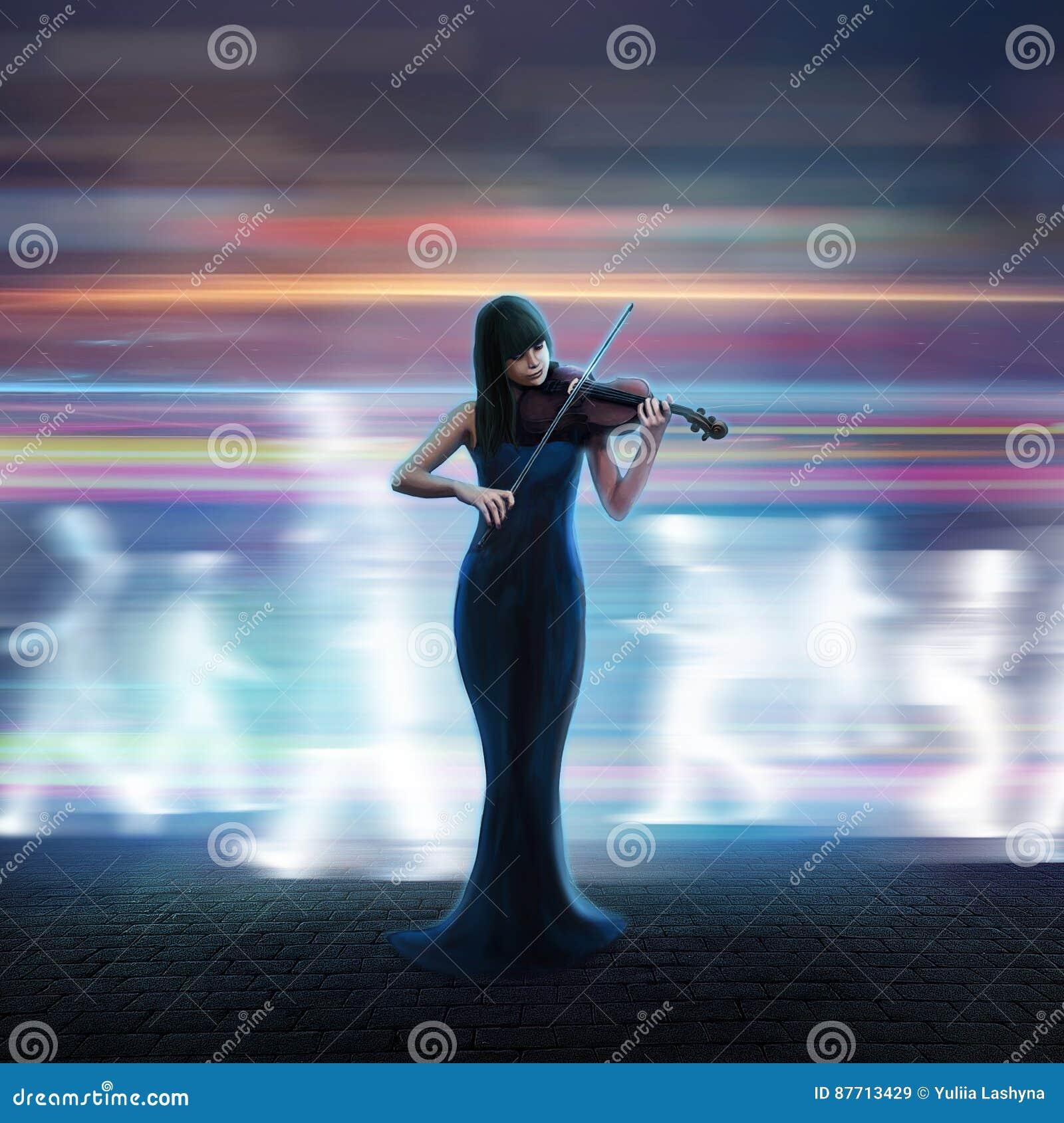 Härlig violinist