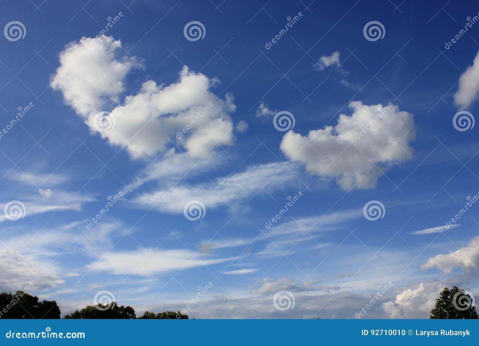 Härlig vit fördunklar mot blå himmel