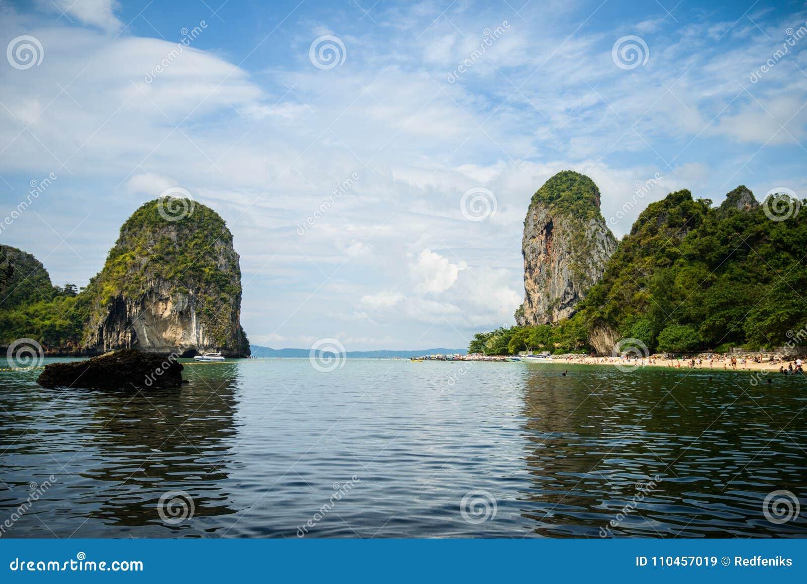 Härliga öar i det Andaman havet, Krabi, Thailand