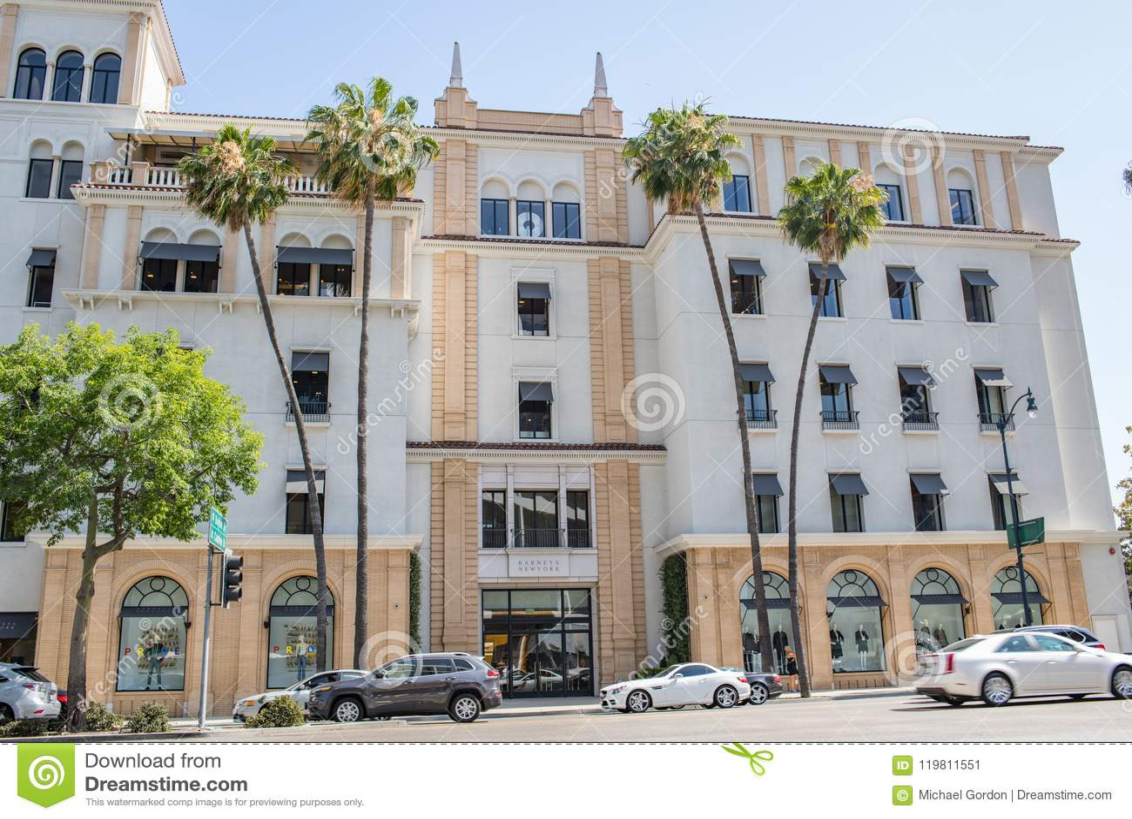 Härliga Beverly Hills, Kalifornien på en sommardag