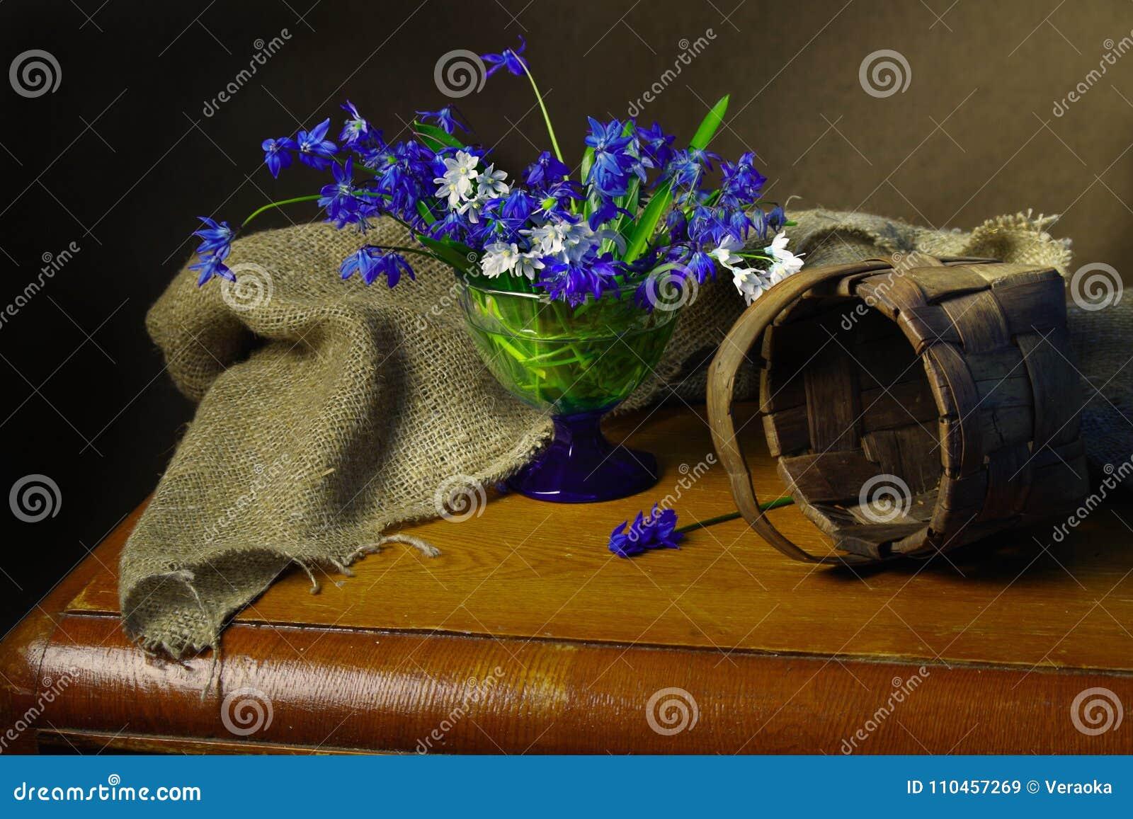 Härliga blommor för vår som isoleras på brun bakgrund