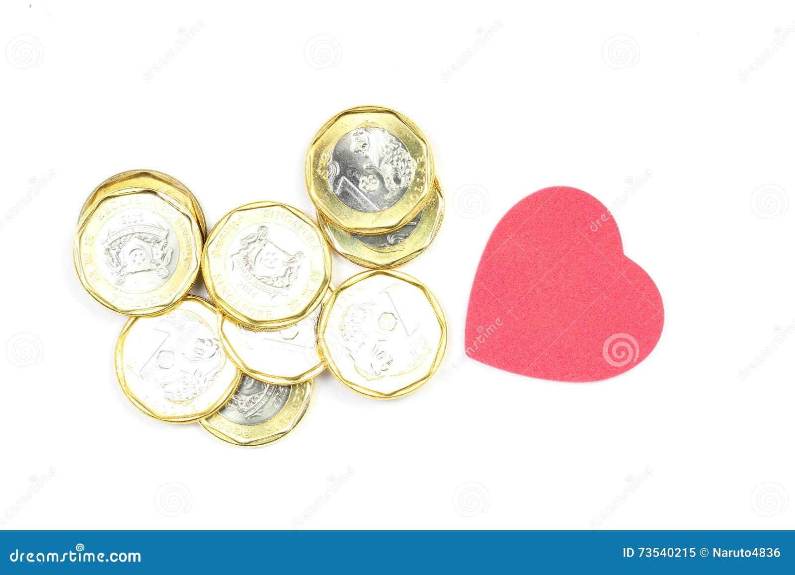 Härliga dimensionella förälskelsepengar tre för illustration 3d mycket