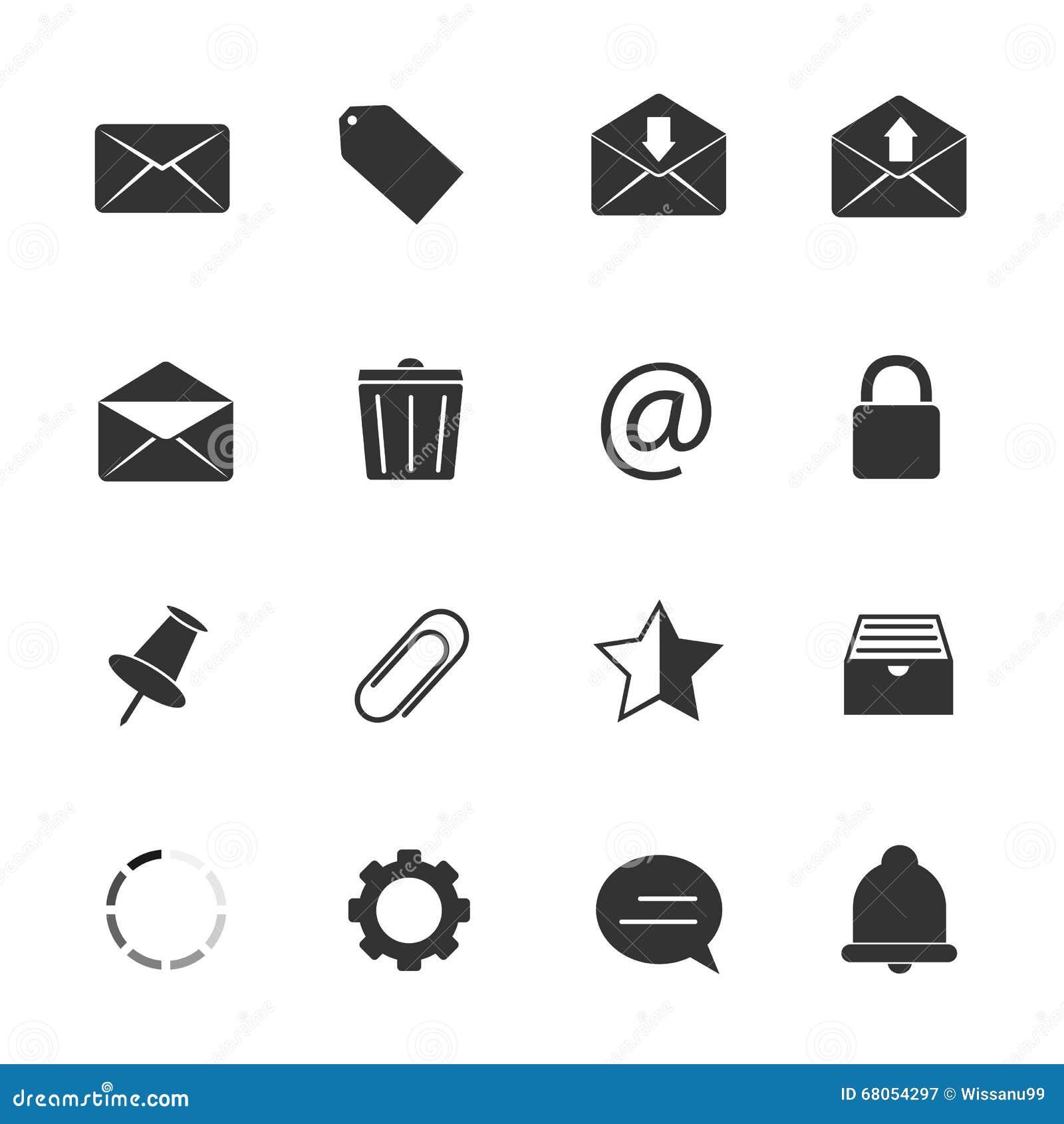 Härliga e-postsymbolssymboler ställde in vektorn