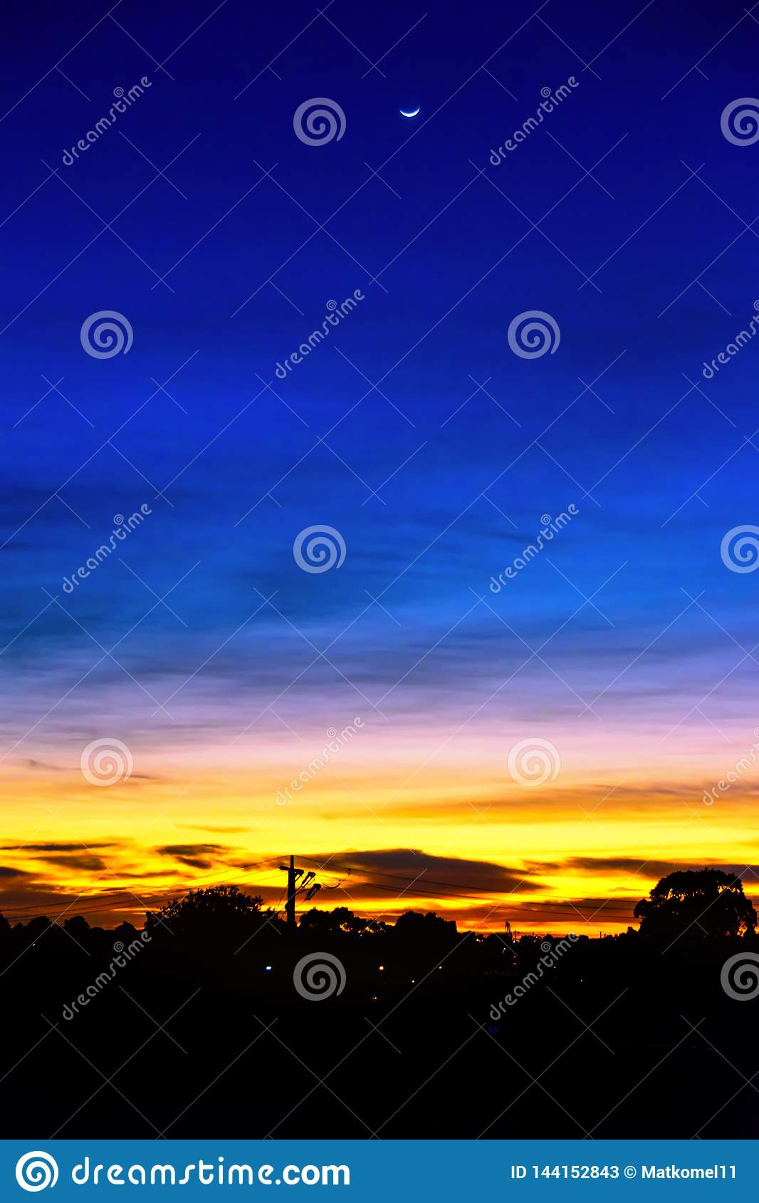 Härliga färger av gryning