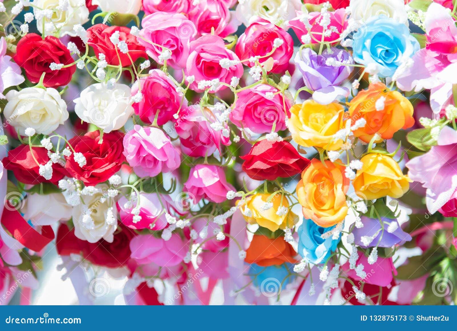 Härliga gruppblommor Färgrika blommor för att gifta sig och lurar