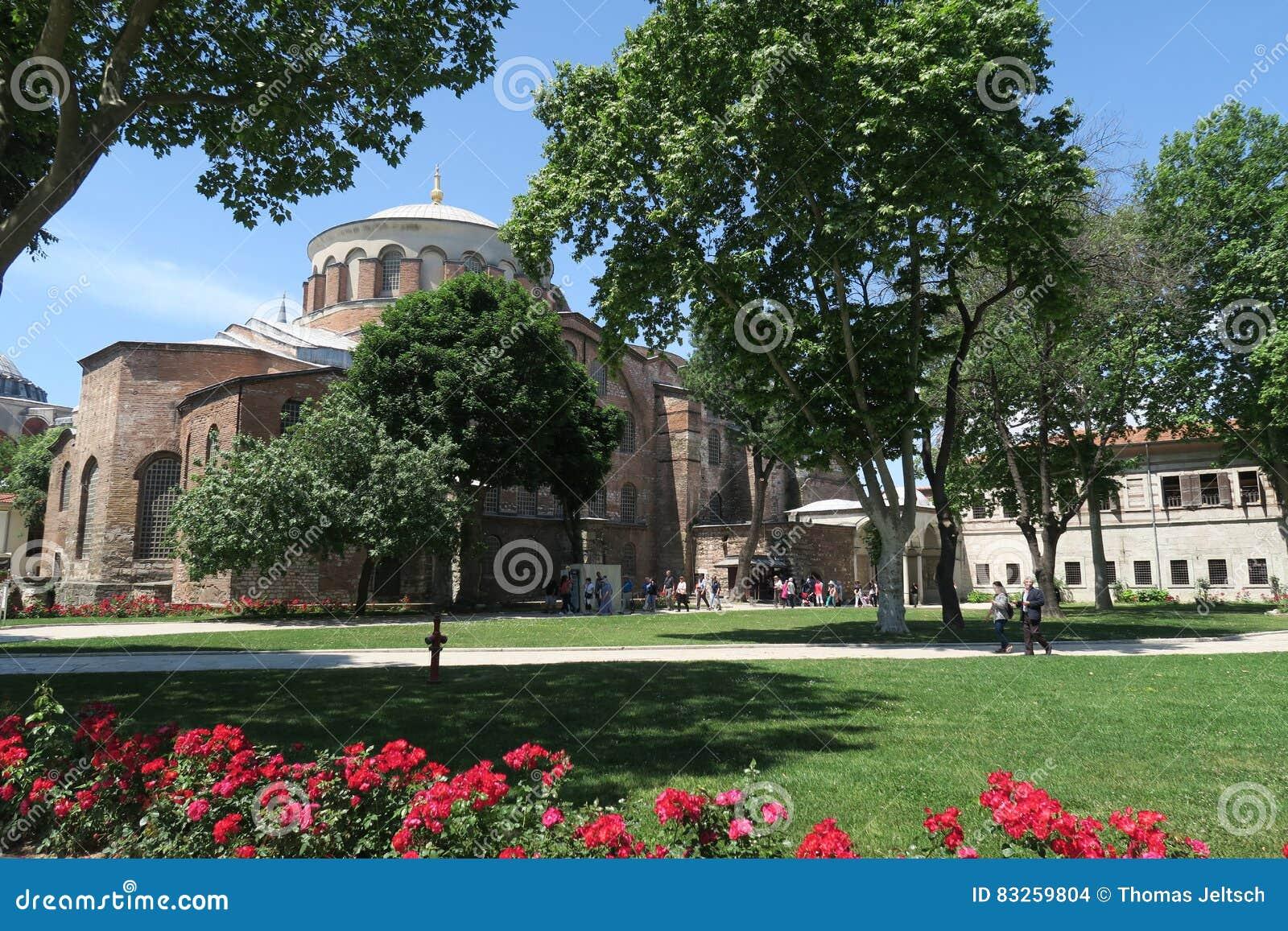 Härliga Hagia Irene - en tidigare östlig ortodox kyrka i det Topkapi slottkomplexet, Istanbul, Turkiet