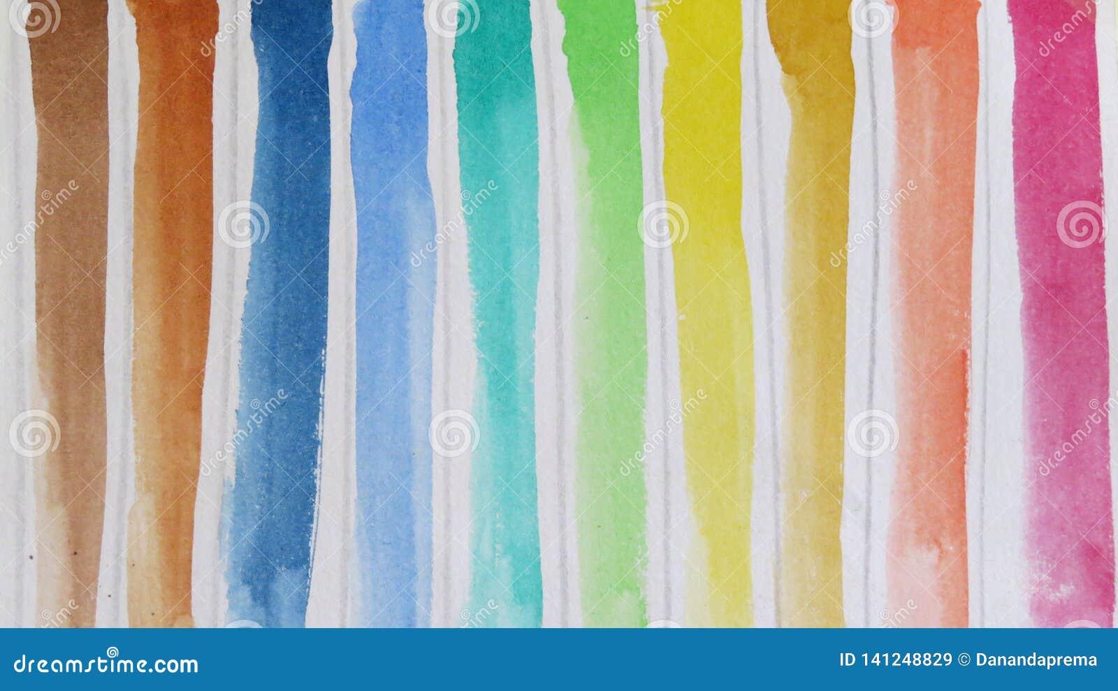 Härliga skuggor av vattenfärger