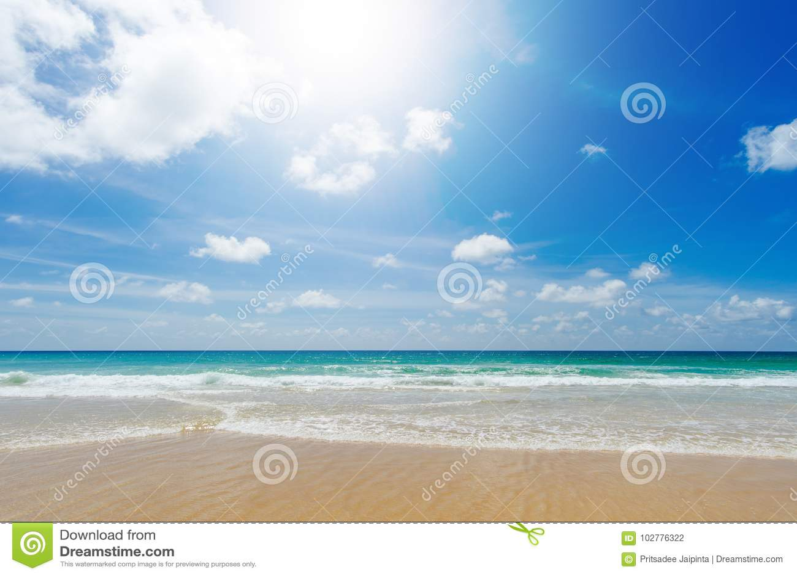 Härligt hav strandkaron phuket thailand askfat
