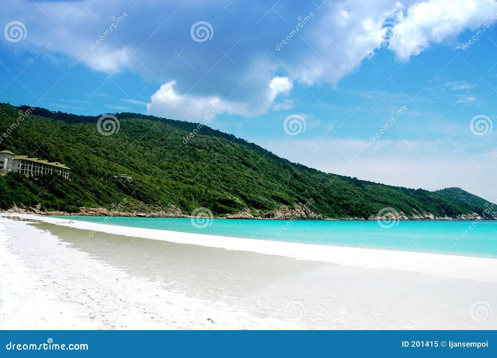 Härligt landskap för strand