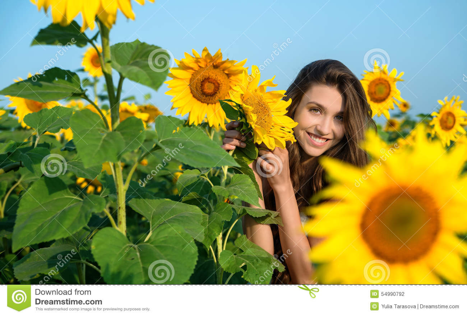 Härligt solroskvinnabarn