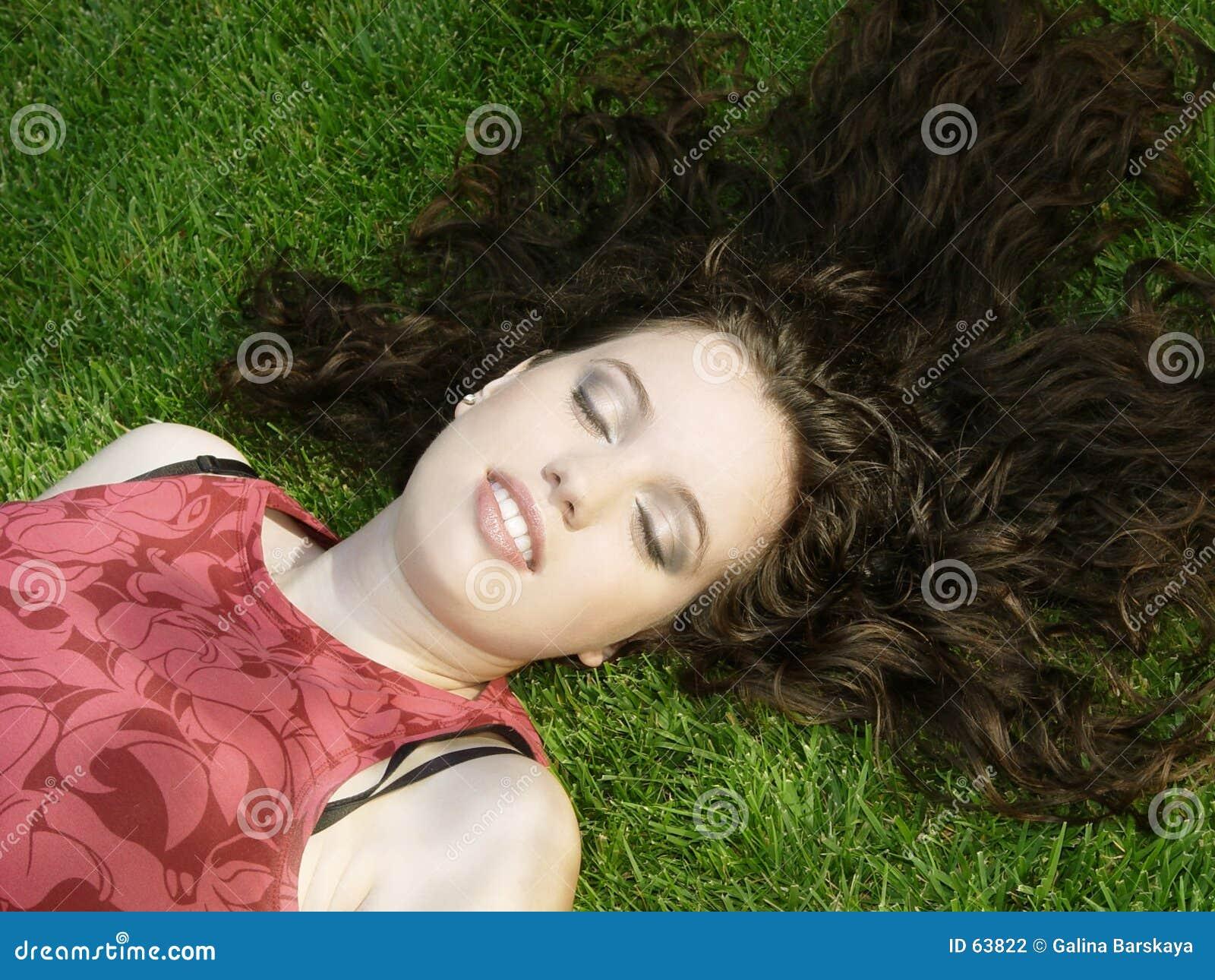 Härligt sova för flicka