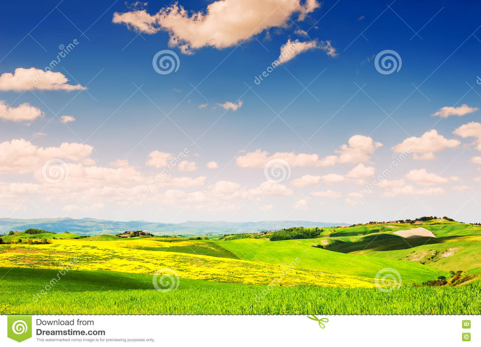 Härligt Tuscany landskap, Italien
