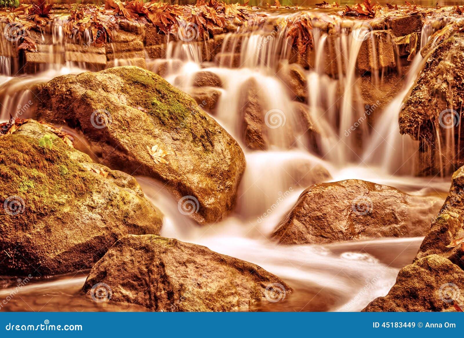 Härligt vattenfalllandskap
