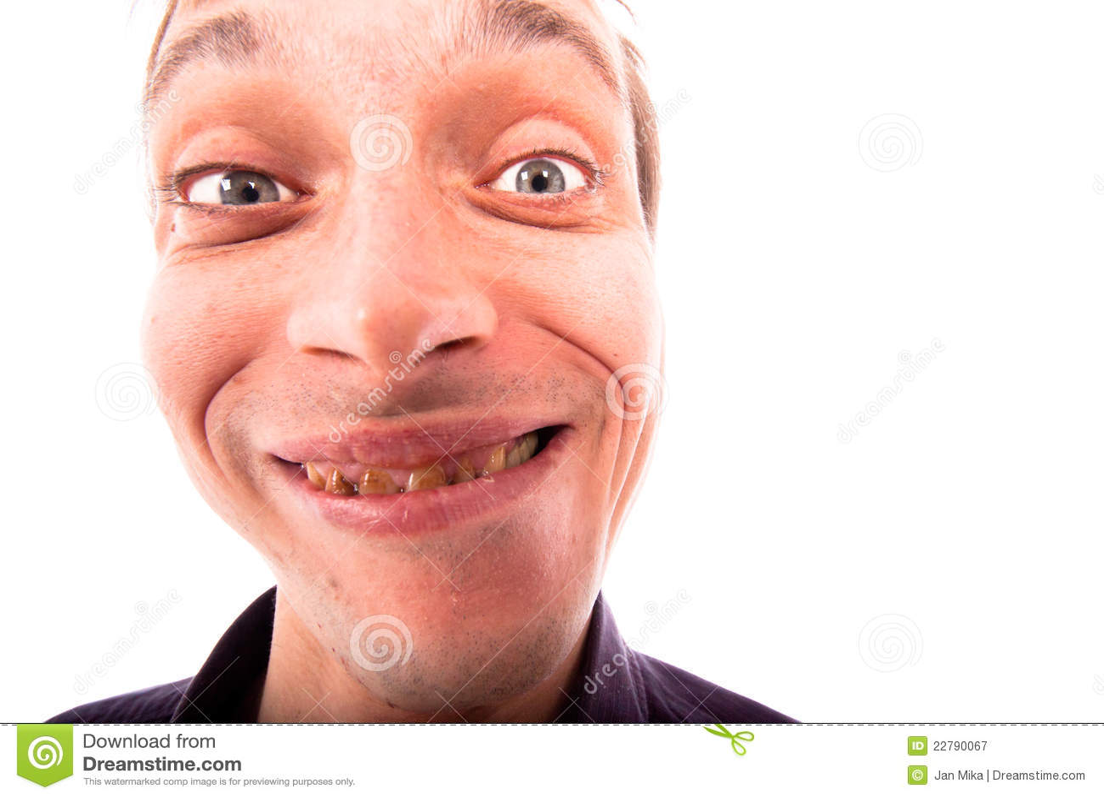 Gesicht mann hässliches Hässliches gesicht.