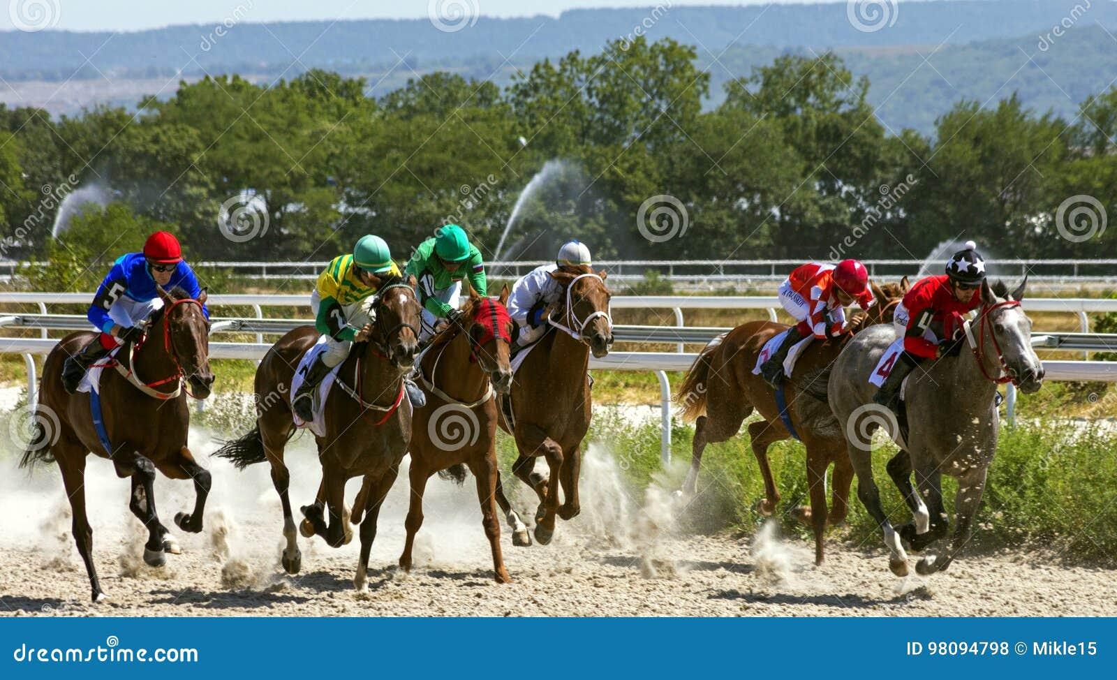 Hästkapplöpning i Pyatigorsk