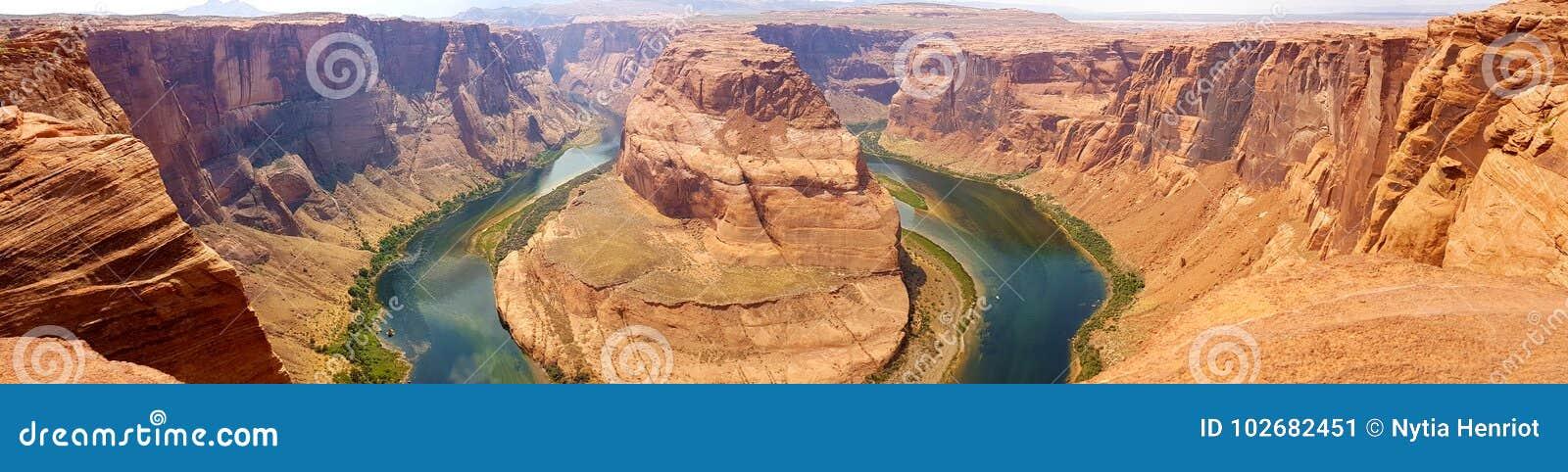 Hästskokrökninginspiration som är panorama-, sida, Arizona