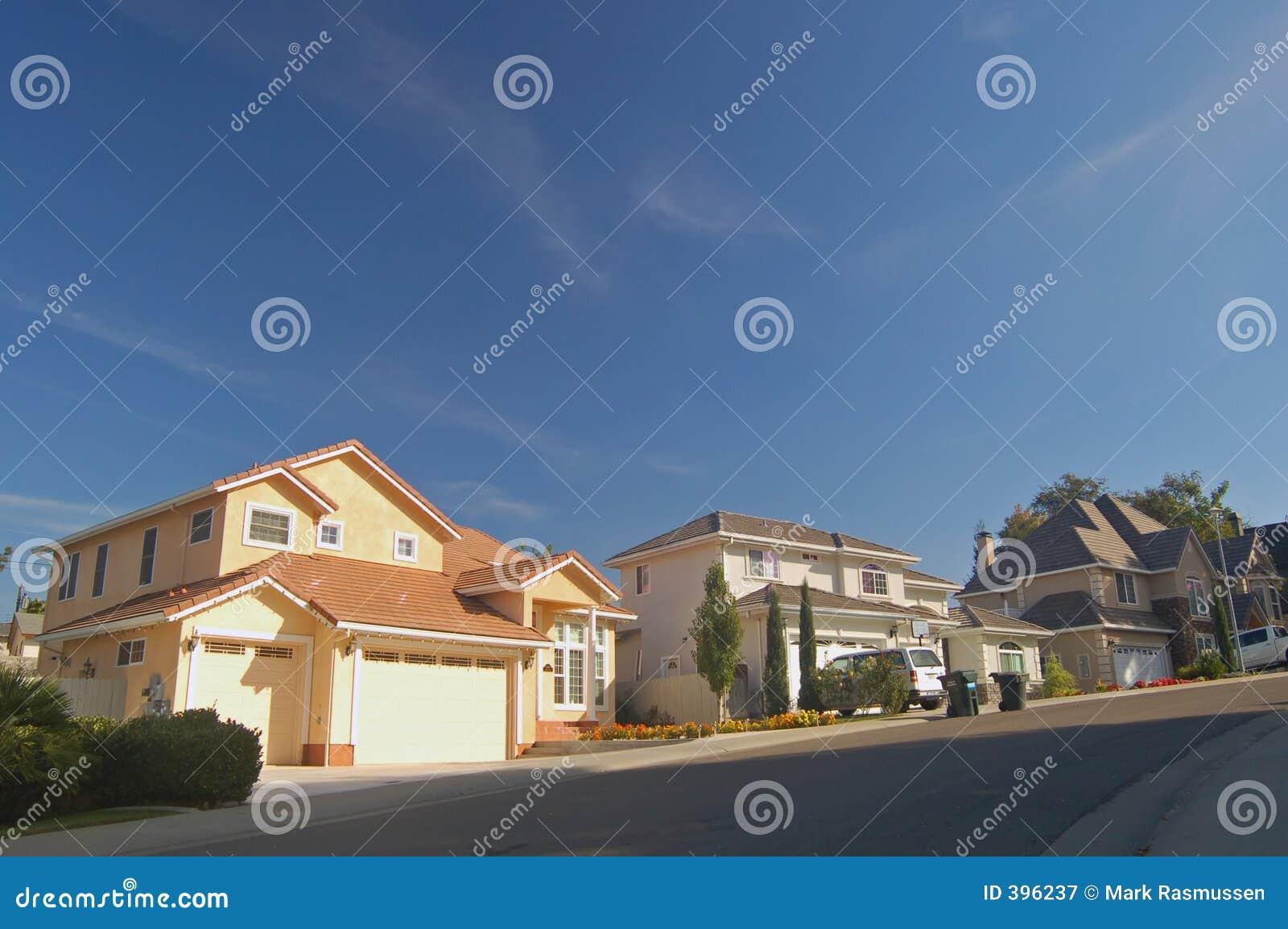 Häuser in den Vororten