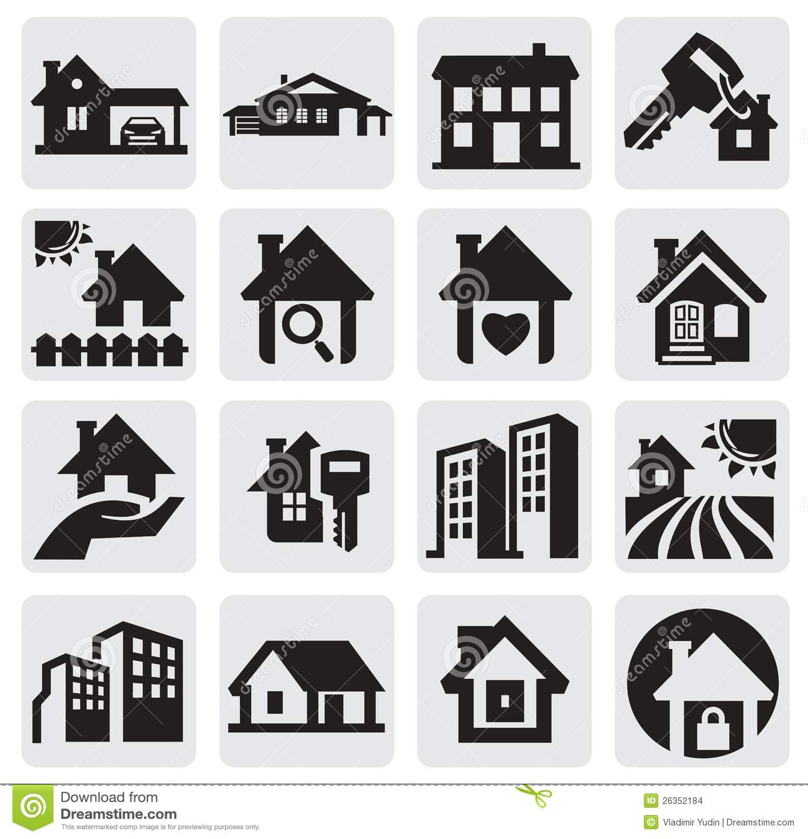 Häuser eingestellt