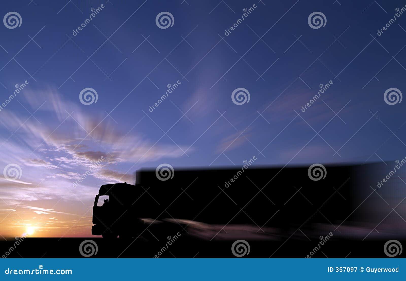 Håll att åka lastbil